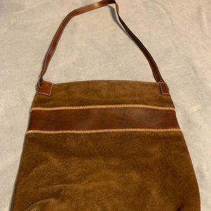 ELLINGTON Brown Suede & Belt Leather Tote